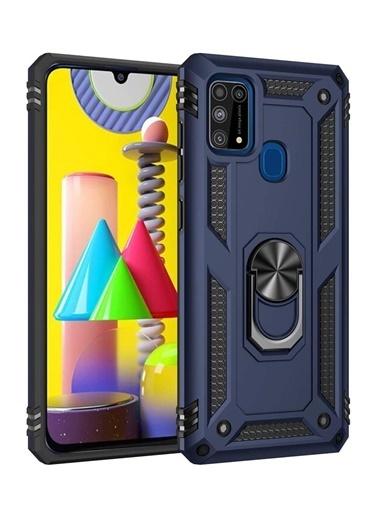 MobilCadde Eiroo Magnet Ring Samsung Galaxy M31 Ultra Koruma Lacivert Kılıf Renkli